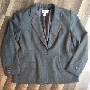 Pendleton size 14 gray dressy blazer virgin wool